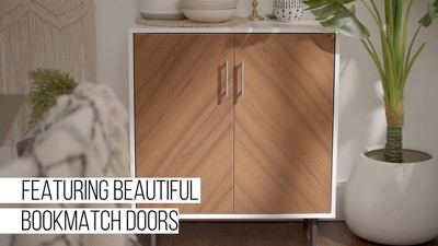 Modern Bookmatch Accent Cabinet - Saracina Home : Target