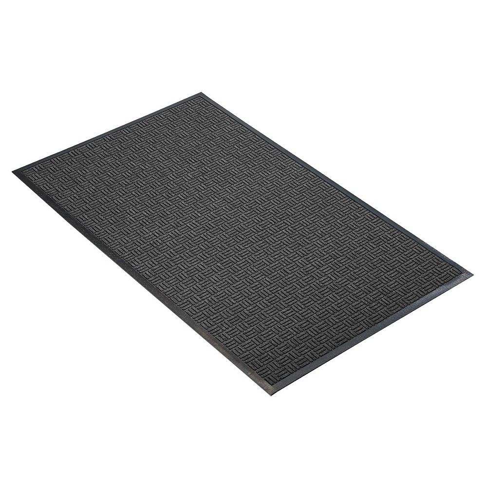 Image of Charcoal Solid Doormat - (3'X4') - HomeTrax, Grey