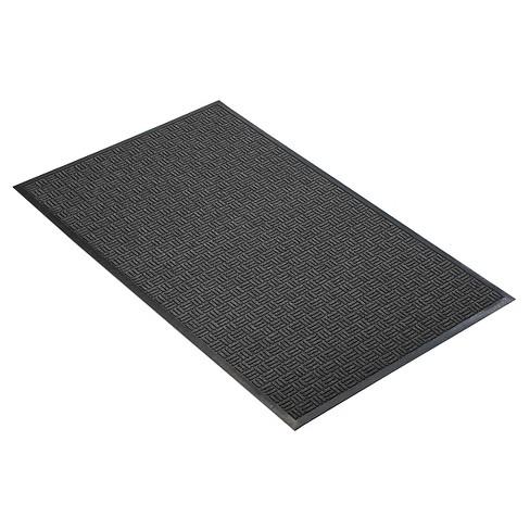 Charcoal Solid Doormat - (3'X4') - HomeTrax - image 1 of 4