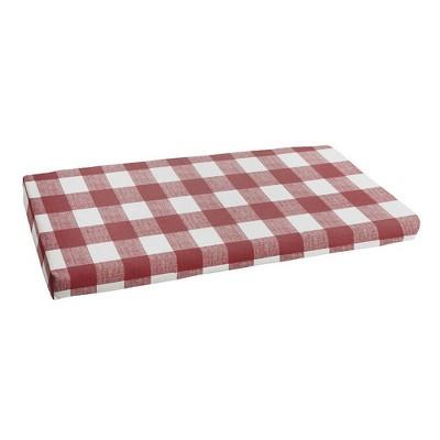 "18"" x 55"" Anderson Indoor Outdoor Bench Cushion Bristol Sangria Red - Sorra Home"