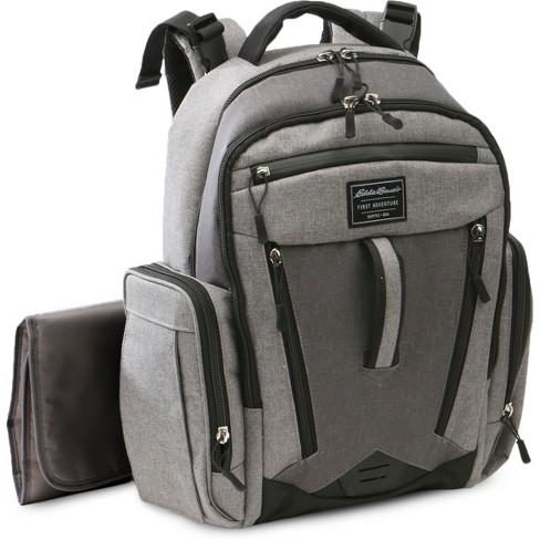 8611bbd315a1 Eddie Bauer Traverse Places   Spaces Back Pack Diaper Bag - Grey   Target
