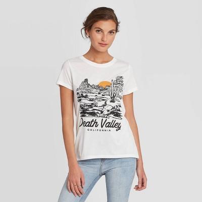 Women's Short Sleeve Death Valley Graphic T-Shirt - Awake White