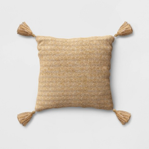 Tassel Outdoor Pillow Gold - Opalhouse™ - image 1 of 1
