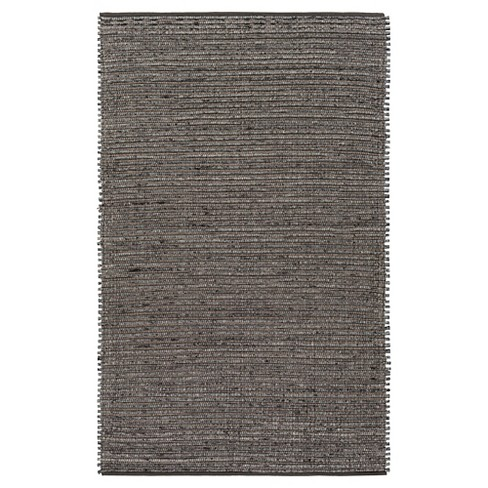 Gray Solid Woven Accent Rug - (2'X3') - Surya - image 1 of 3