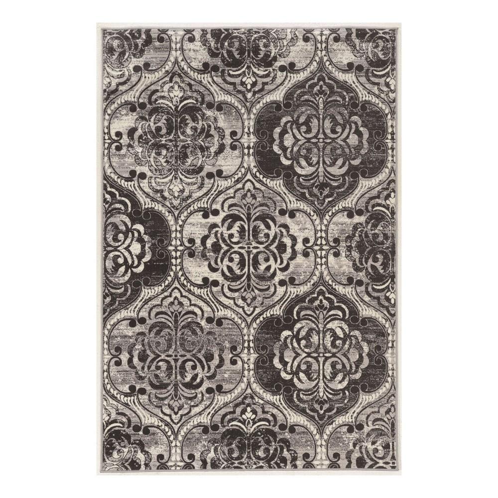 Gray Mosaic Design Loomed Area Rug 9'X12' - Linon