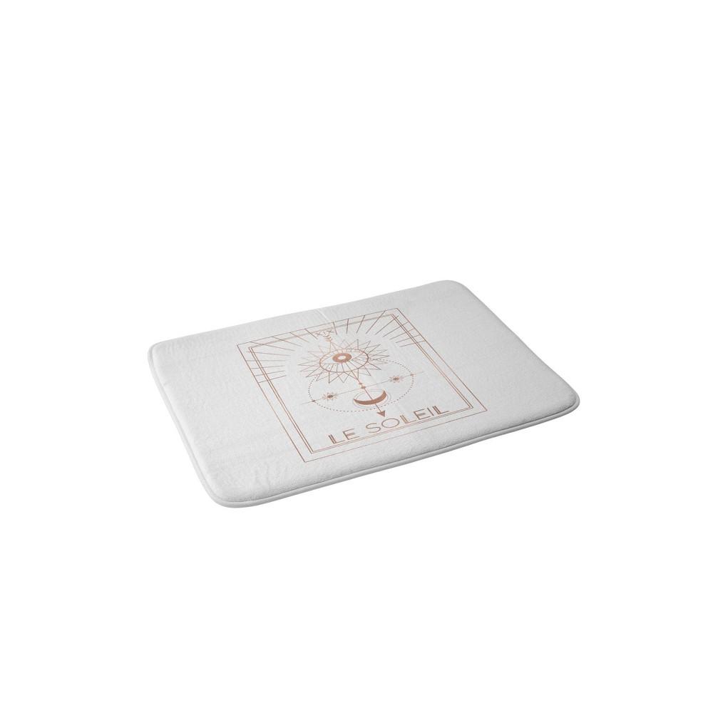 Emanuela Carratoni Le Soleil Or The Sun Memory Foam Bath Mat White Deny Designs