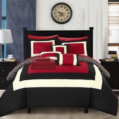 Heldin 10Pc Bed in a Bag  Comforter Set