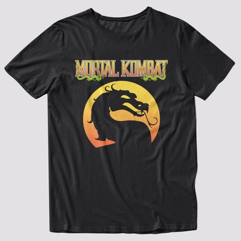 Men's Mortal Kombat Logo Short Sleeve Graphic T-Shirt - Black - image 1 of 1