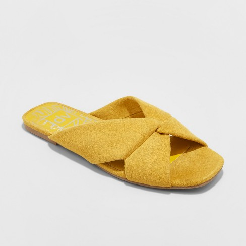 Women S Dv Ad Microsuede Knotted Slide Sandals