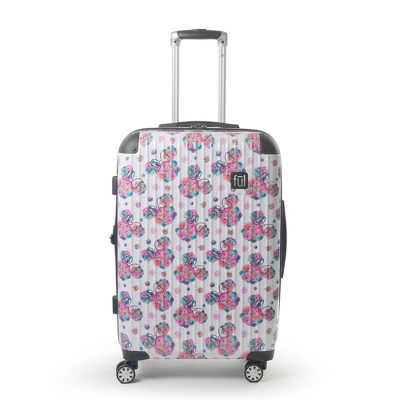 "FUL Disney Minnie Mouse Printed 25"" Hardside Rolling Suitcase - Floral"
