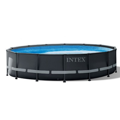 Intex 26309ST 14 Foot x 42 Inch Ultra XTR Frame Round Above Ground Swimming Pool with Liner, Ladder, Sand Filter Cartridge Pump, Ground Cloth, & Cover