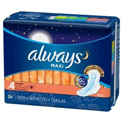 Always Maxi Overnight Pads - Size 4
