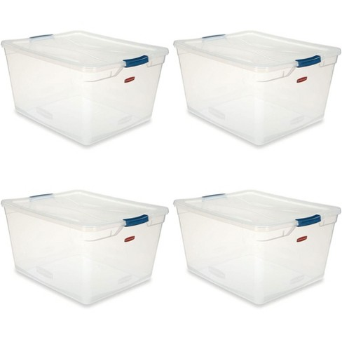 Rubbermaid Cleverstore 71 Qt Latching Plastic Storage Container