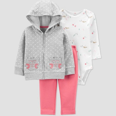 Baby Girls' Dot Top & Bottom Set - Just One You® made by carter's Gray Newborn