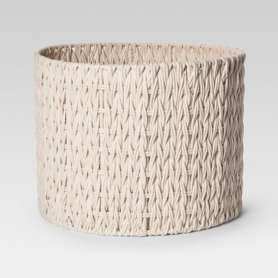 Round Woven Basket Large - Cream - Project 62™