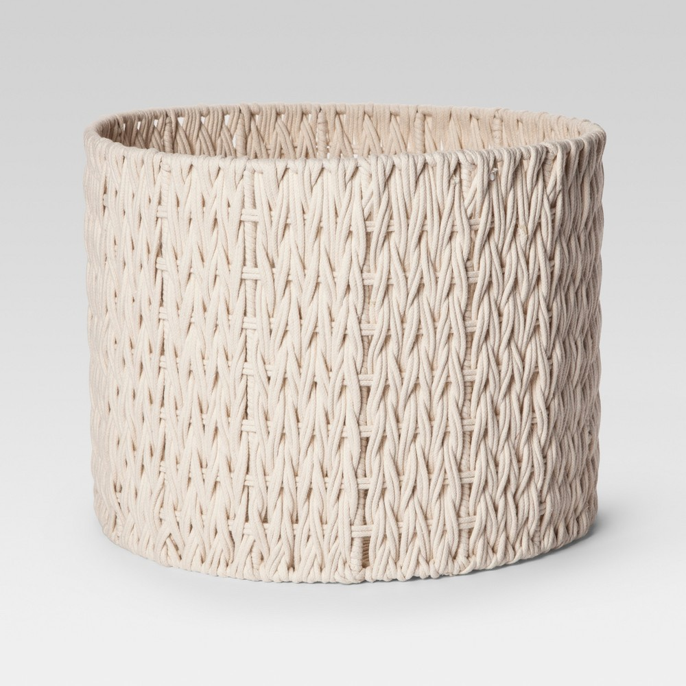 Round Woven Basket Large - Cream (Ivory) - Project 62