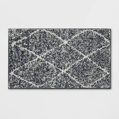 "1'8""X2'10"" Criss Cross Easy Care Rug Charcoal/Ivory - Threshold™"