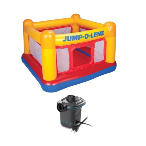 Intex Inflatable Ball Pit Bounce House & 120V Quick Fill AC Electric Air Pump - image 1 of 4