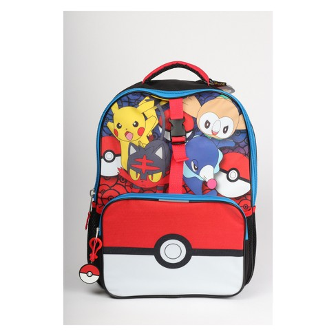 Pokemon 16 Kids Backpack With Lunch Bag And Pencil Case