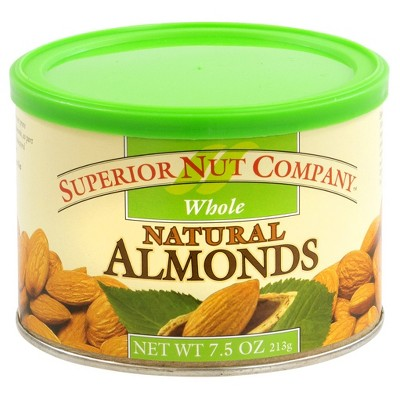 Superior Nut Whole Natural Almonds - 7.5oz - 12 ct