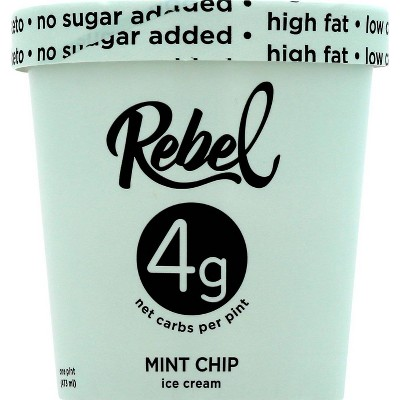 Rebel Ice Cream Mint Chip Ice Cream - 16oz