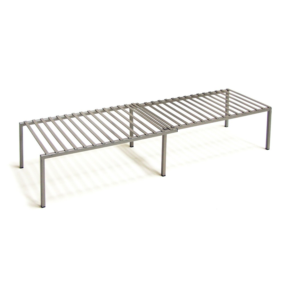 Image of Seville Expandable Cabinet Shelf Organizer Silver