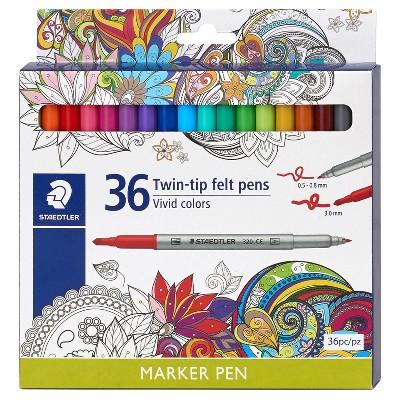 Staedtler Twin-tip Felt Marker Pens, 36ct