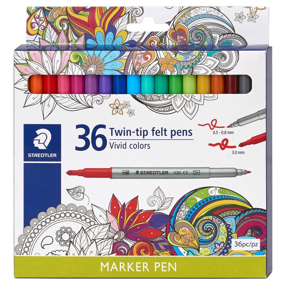 Image of Staedtler Twin-tip Felt Marker Pens, 36ct