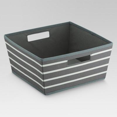 Fabric Half Bin - Gray Stripe - Threshold™