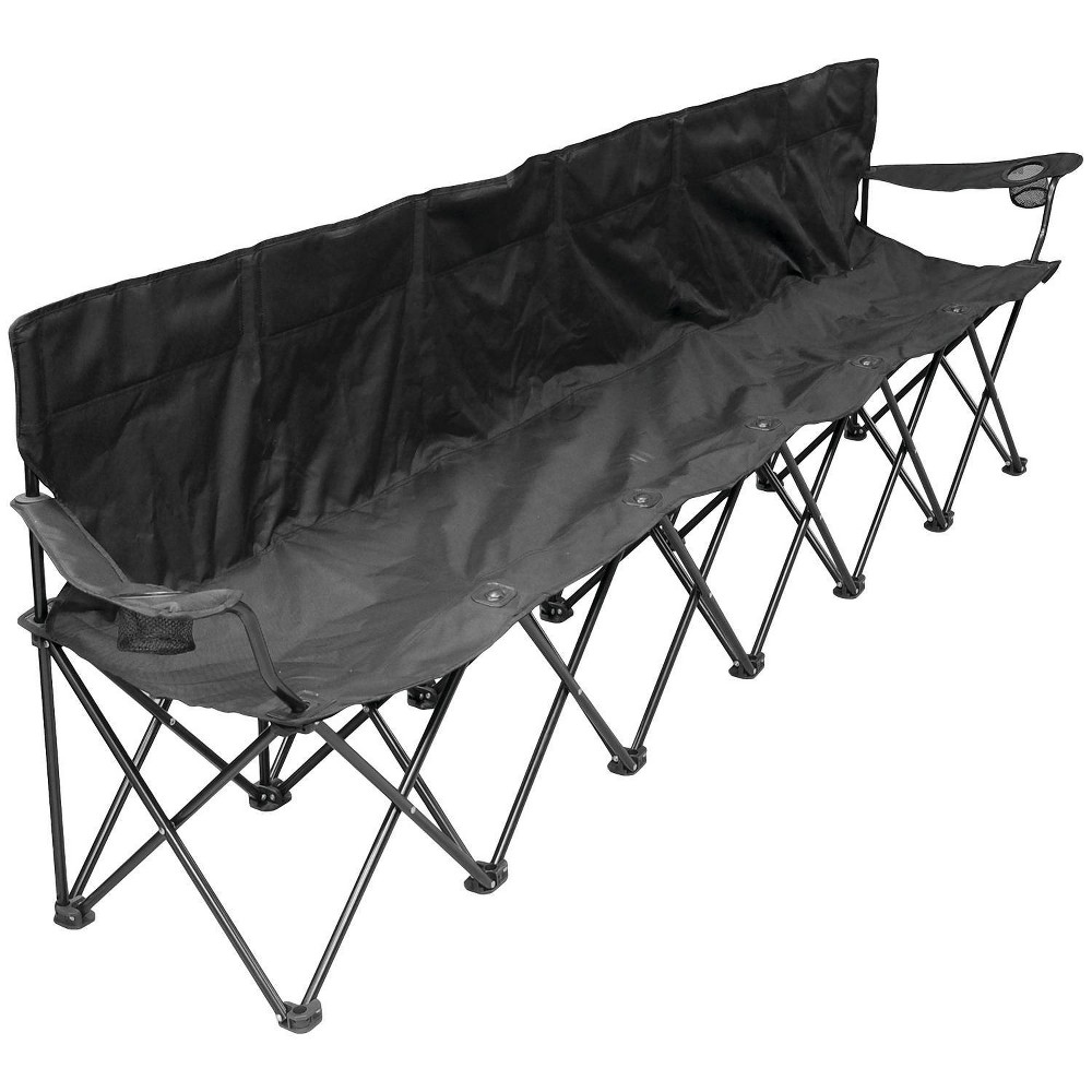 Image of Creative Outdoor Distributor 6-Person Folding Chair - Black