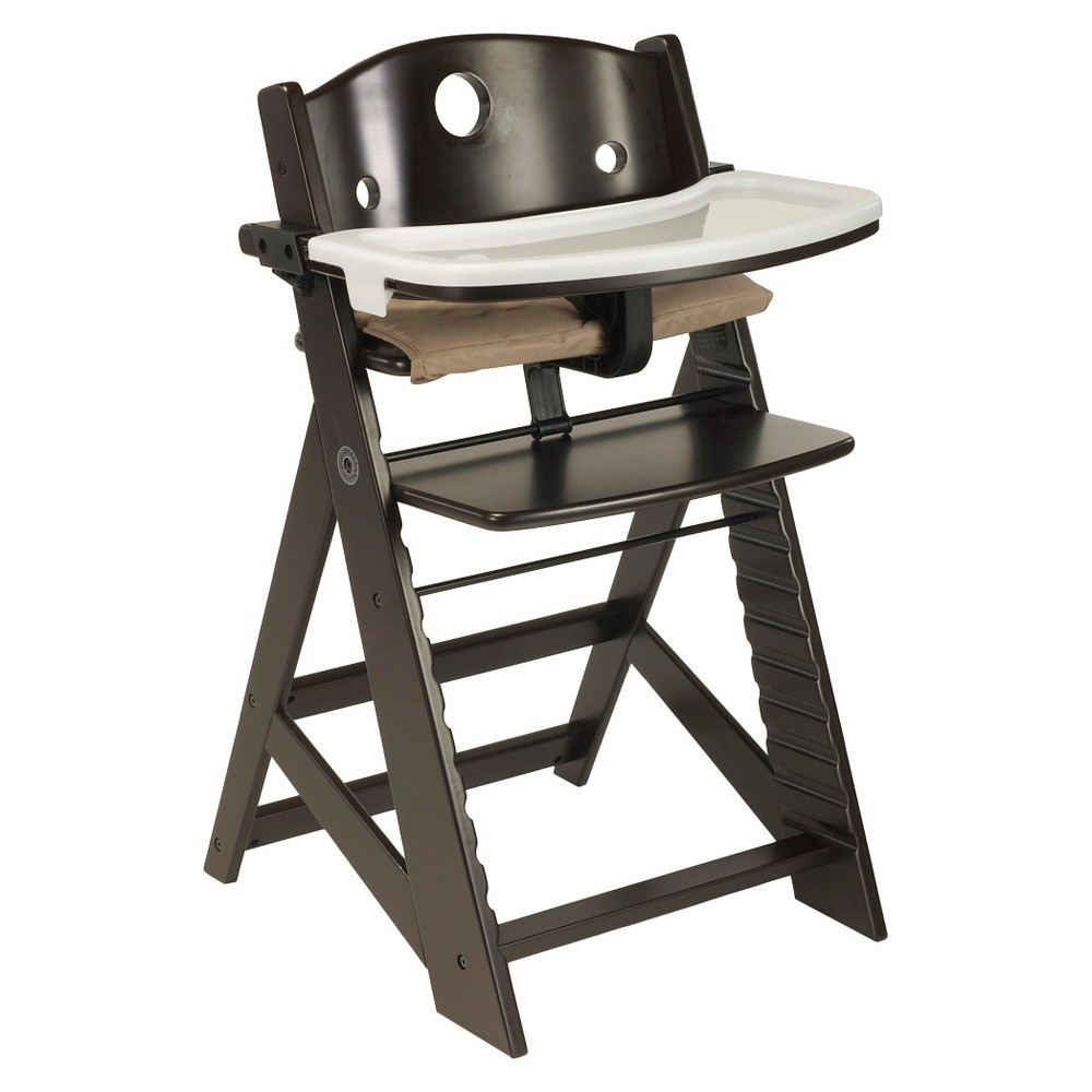 Image of Keekaroo Height Right High Chair with Tray - Espresso, Brown