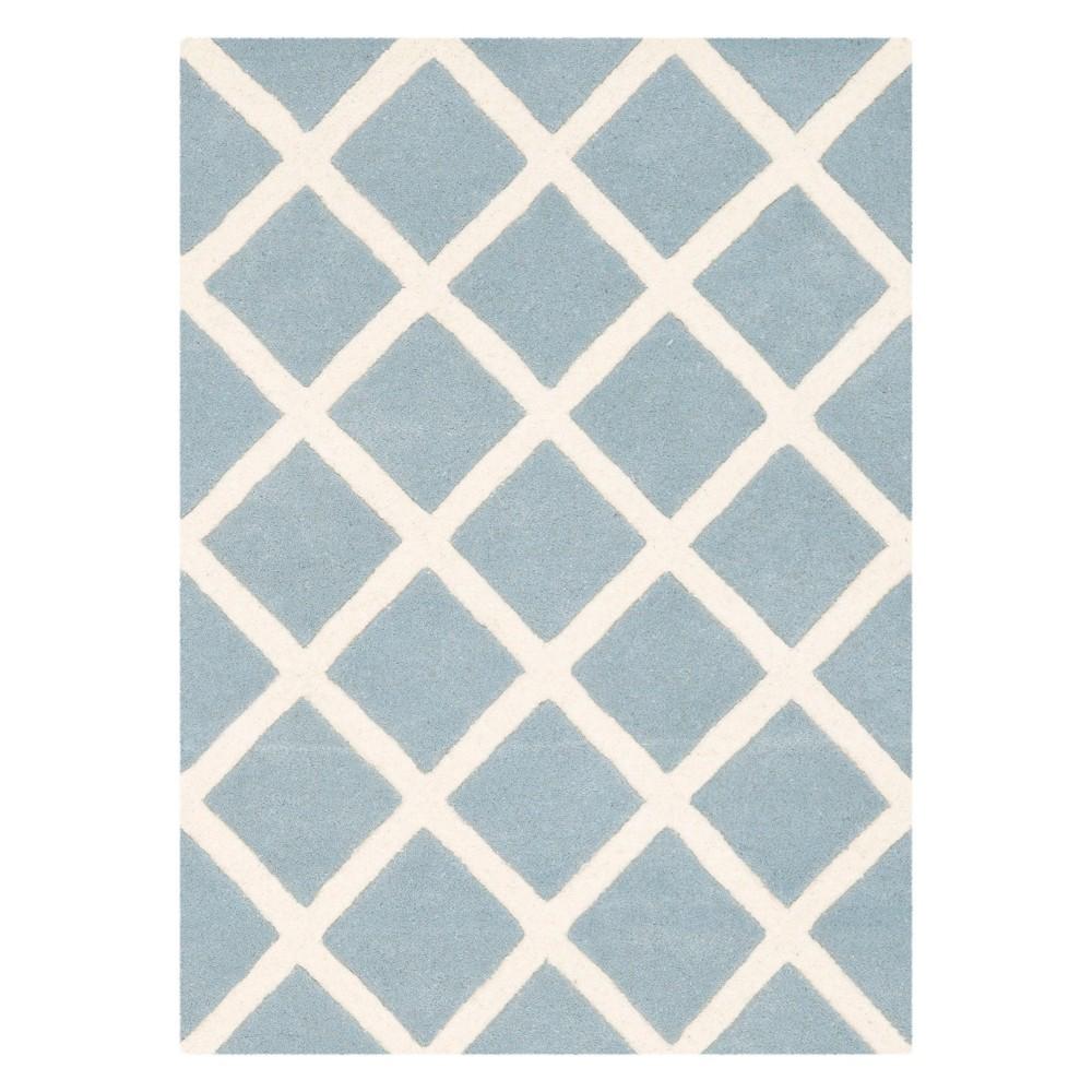 2'X3' Geometric Tufted Accent Rug Blue/Ivory - Safavieh