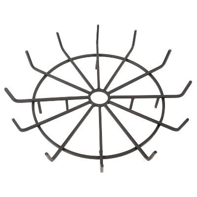 "Pleasant Hearth 32"" Wagon Wheel Steel Wood Grate"