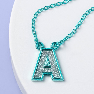 Girls' Initial Necklace - More Than Magic™ Teal