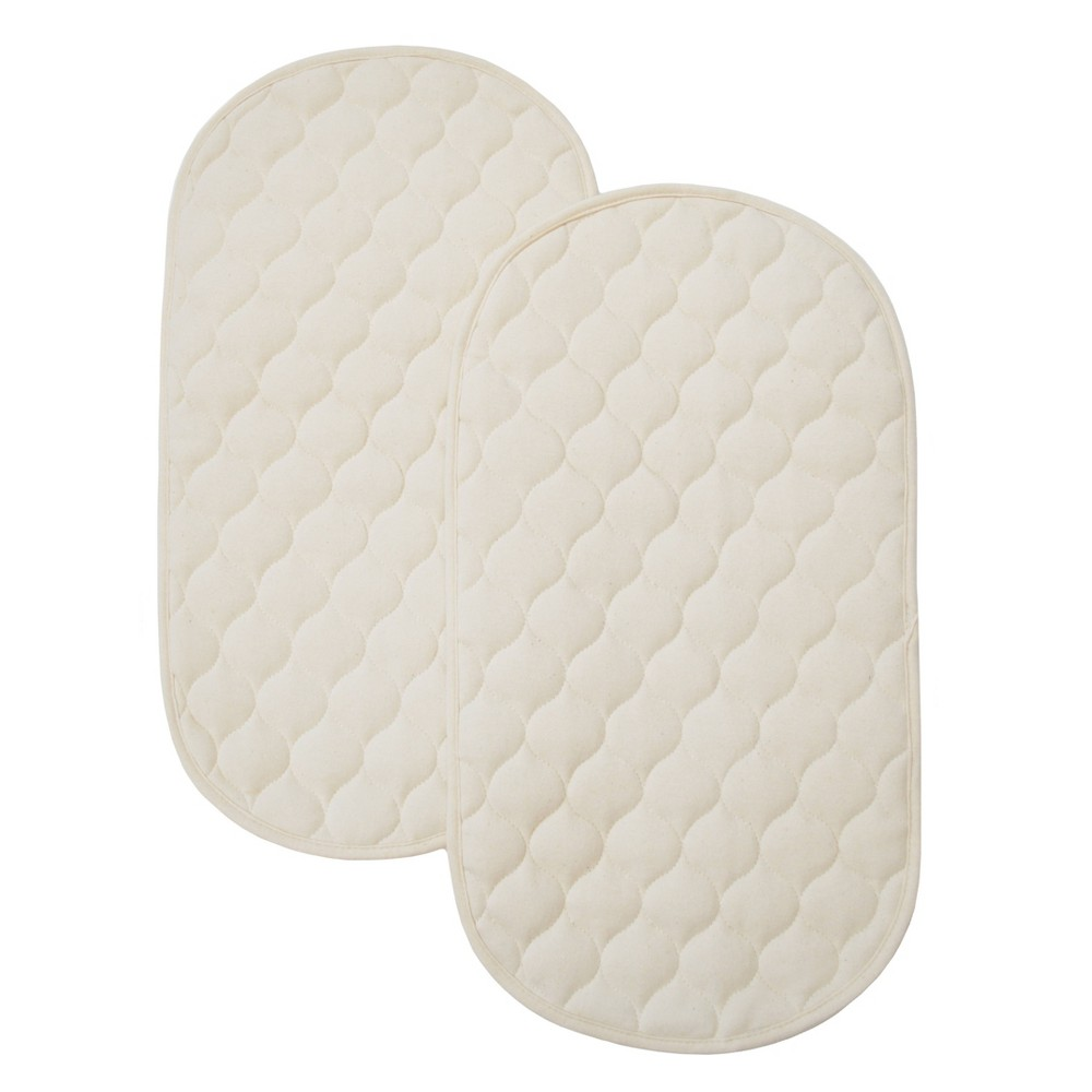 Image of MiracleWare Waterproof Baby Quilted Playard Changing Table Pads Natural - 2pk
