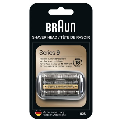 Braun Series 9 Electric Shaver Replacement Head - Compatible with Series 9 Shavers 92S