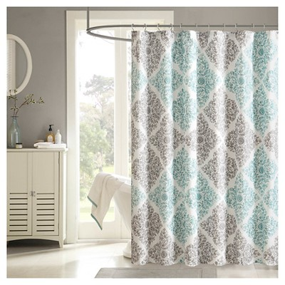 Arbor Shower Curtain - Aqua