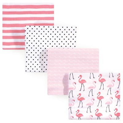 Hudson Baby Unisex Baby Cotton Flannel Receiving Blanket - Flamingos One Size