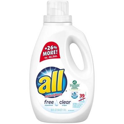 All Free Clear Liquid Laundry Detergent - 59 fl oz