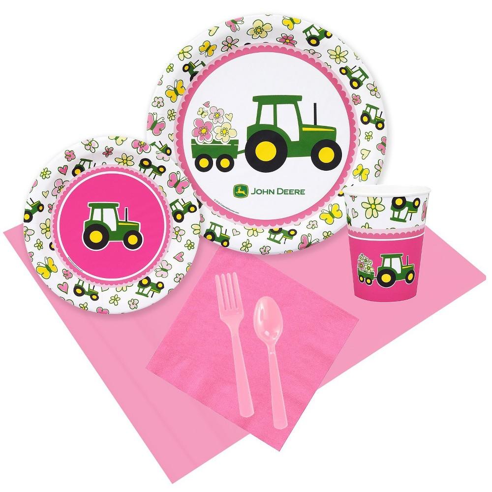 Image of 24 Guest Party Pack BuySeasons John Deere Pink