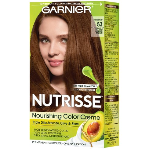 Garnier Nutrisse Nourishing Permanent Hair Color Creme Dark Brown