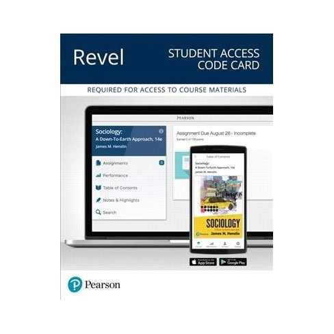 Sociology Revel Access Code A Down To Earth Approach By James M