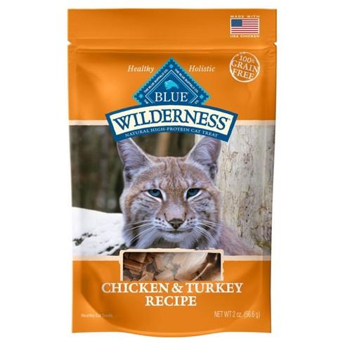 Blue Buffalo Wilderness 100% Grain-Free Chicken & Turkey Recipe Cat Treats - 2oz - image 1 of 2