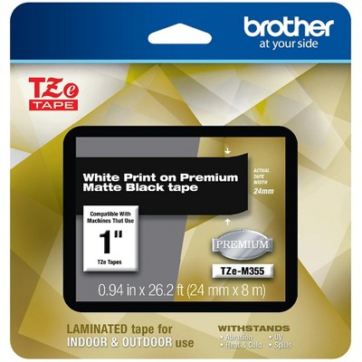Brother P-touch Laminated Tape 1 White Print TZE-M355