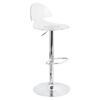 "Venti 32"" Barstool Acrylic/Clear - Lumisource"