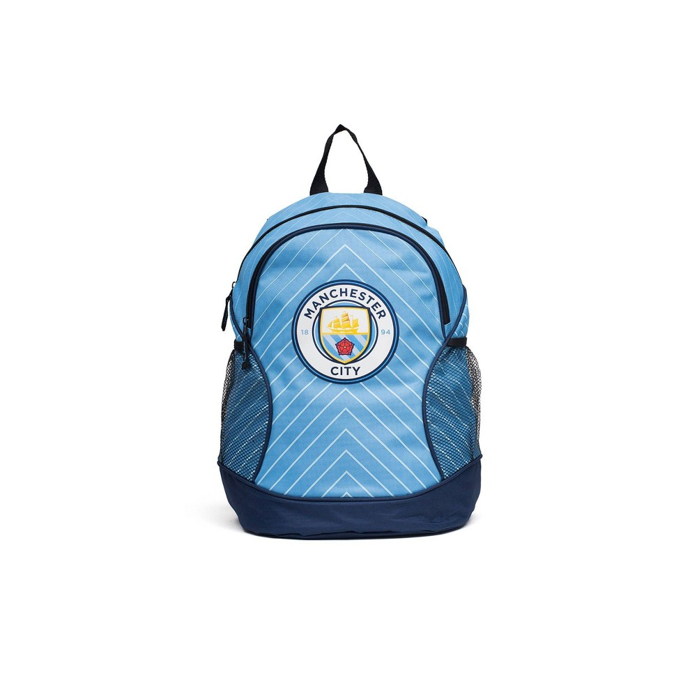 Fifa Manchester City F C Double Zipper Backpack