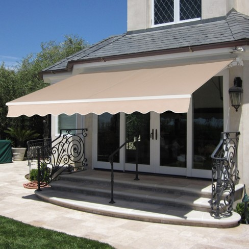 W Aluminum Frame Crank Handle, Outdoor Patio Shade Covers