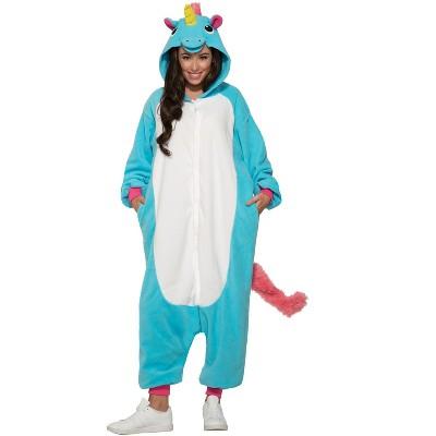 Forum Novelties Blue Unicorn Jumpsuit Adult Costume