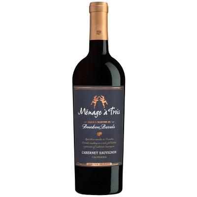 Menage a Trois Bourbon Barrel Cabernet Sauvignon Red Wine - 750ml Bottle