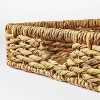"""17"""" x 6"""" Chunky Woven Tray Basket Natural - Threshold™ designed with Studio McGee - image 3 of 4"""